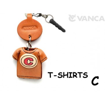 C/Red Leather T-shirt Earphone Jack Accessory