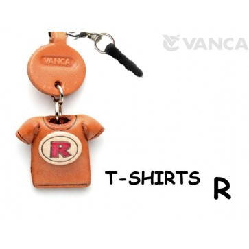 R/Red Leather T-shirt Earphone Jack Accessory