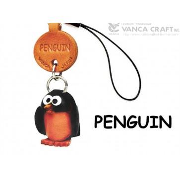 Penguin Japanese Leather Cellularphone Charm Fish