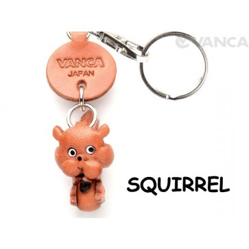 Squirrel Japanese Leather Keychains Animal