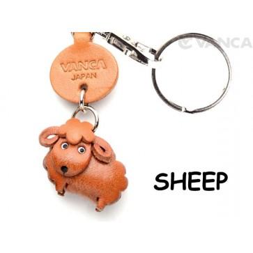 Sheep Japanese Leather Keychains Animal