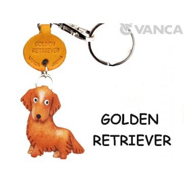 Golden Retriever Leather Dog Keychain