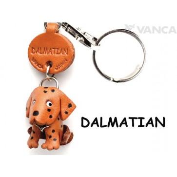 Dalmatian Leather Dog Keychain