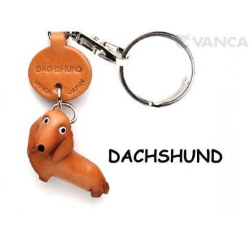 Dachshund Leather Dog Keychain