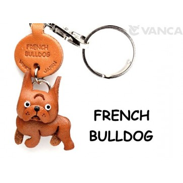 French Bulldog Leather Dog Keychain