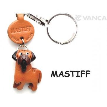 Mastiff Japanese Leather Dog Keychain