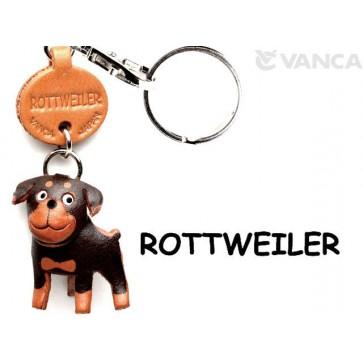 Rottweiler Leather Dog Keychain