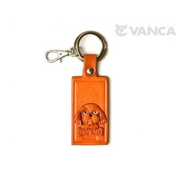 Shih Tzu Leather Name Plate Holder Keychain