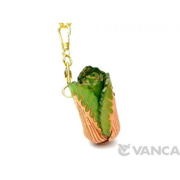 Chinese Cabbage Leather Keychain(L)