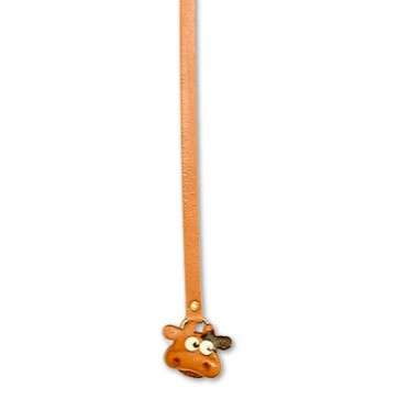 Cow Handmade Leather Animal Bookmark/Bookmarker