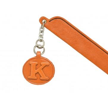 K Leather Alphabet Charm Bookmarker