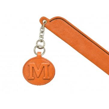 M Leather Alphabet Charm Bookmarker