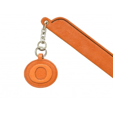 O Leather Alphabet Charm Bookmarker