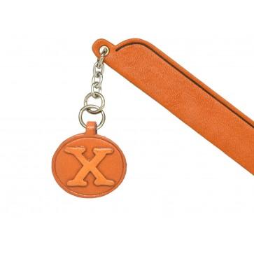 X Leather Alphabet Charm Bookmarker
