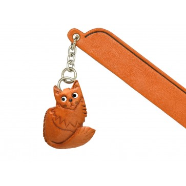 Maine coon Leather Charm Bookmarker