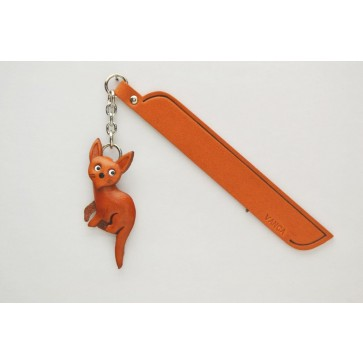 Russian blue Leather Charm Bookmarker