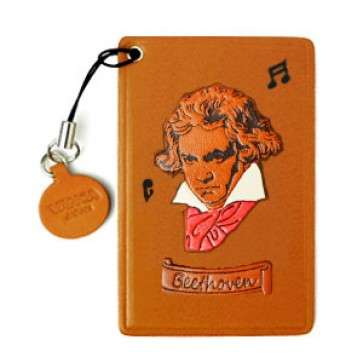 Beethoven Leather Commuter Pass case/card Holders #26493
