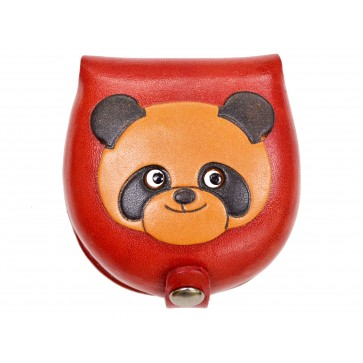 Panda-red Handmade Genuine Leather Animal Color Coin case/Purse #26089-2