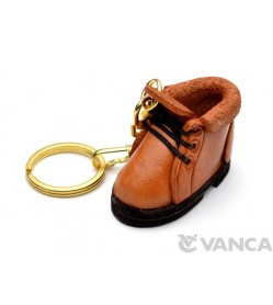 Mountain Climbing Boot Leather Keychain(L)