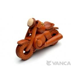 Chopper American Bike Leather Keychain(L)