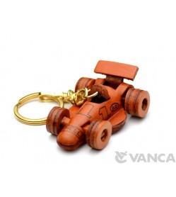 Formula-1 Racing Car Leather Keychain(L)