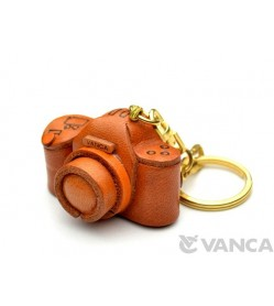 Camera Leather Keychain(L)
