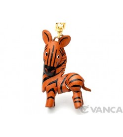 Zebra Leather Keychain(L)