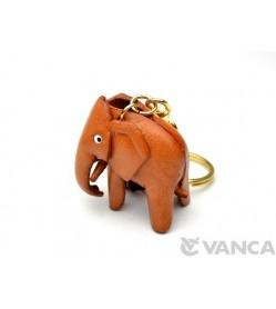 Elephant Leather Keychain(L)