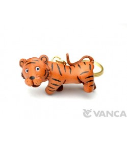 Tiger Leather Keychain(L)