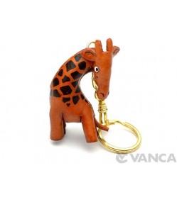 Giraffe Leather Keychain(L)