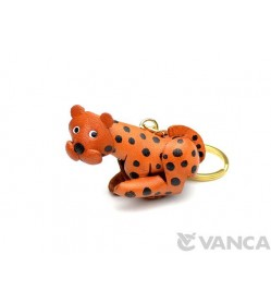 Leopard Leather Keychain(L)