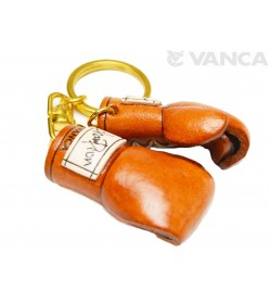 Boxing Globe Leather Keychain(L)