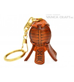 Kendo mask Leather Keychain(L)