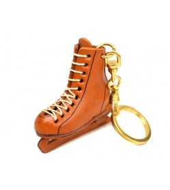 Figure Skating Shoe Leather Keychain(L)
