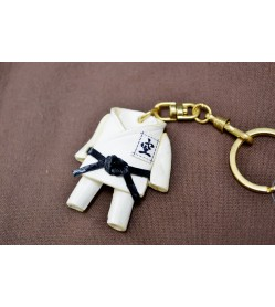 Karate Gi Uniform Leather Keychain(L)