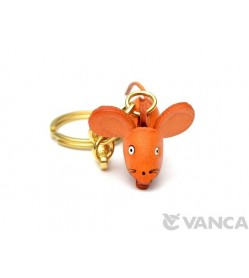 Rat Leather Keychain (Chinese Zodiac)