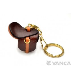 Saddle Leather Keychain(L)