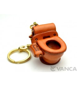 Toilet Bowl Leather Keychain(L)