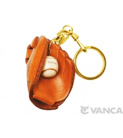 Baseball Glove Leather Keychain(L)