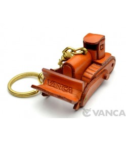 Bulldozer Leather Keychain(L)