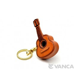 Guitar Leather Keychain(L)