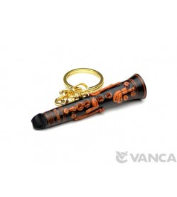 Clarinet Leather Keychain(L)