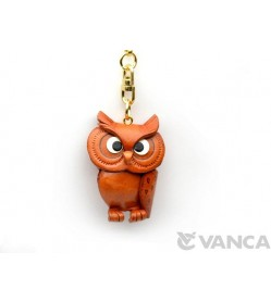 Owl Leather Keychain(L)