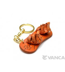 Snowboard Leather Keychain(L)