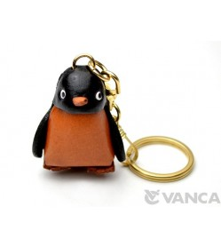 Penguin Leather Keychain(L)