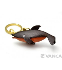 Dolphin Leather Keychain(L)