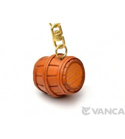 Barrel Leather Keychain(L)