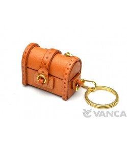 Treasure Chest Leather Keychain(L)