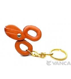 Scissors Leather Keychain(L)