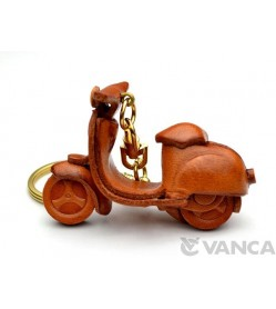 Motor Scooter Leather Keychain(L)